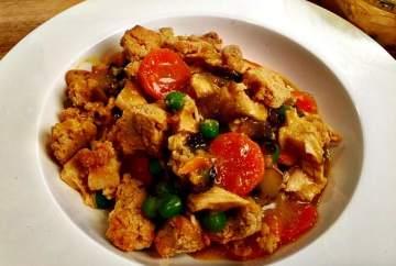Easy Gluten Free Chicken Pot Pie Crumble