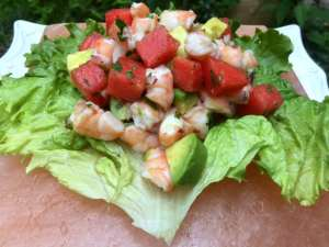 Shrimp and Watermelon Ceviche