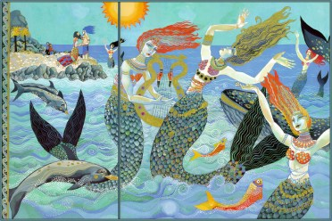 """Illustration by Christina Balit from """"Atlantis - The Legend of a Lost City"""""""