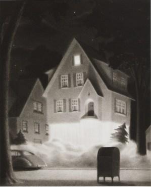 """""""The House on Maple Street"""" Illustration by Chris van Allsburg"""