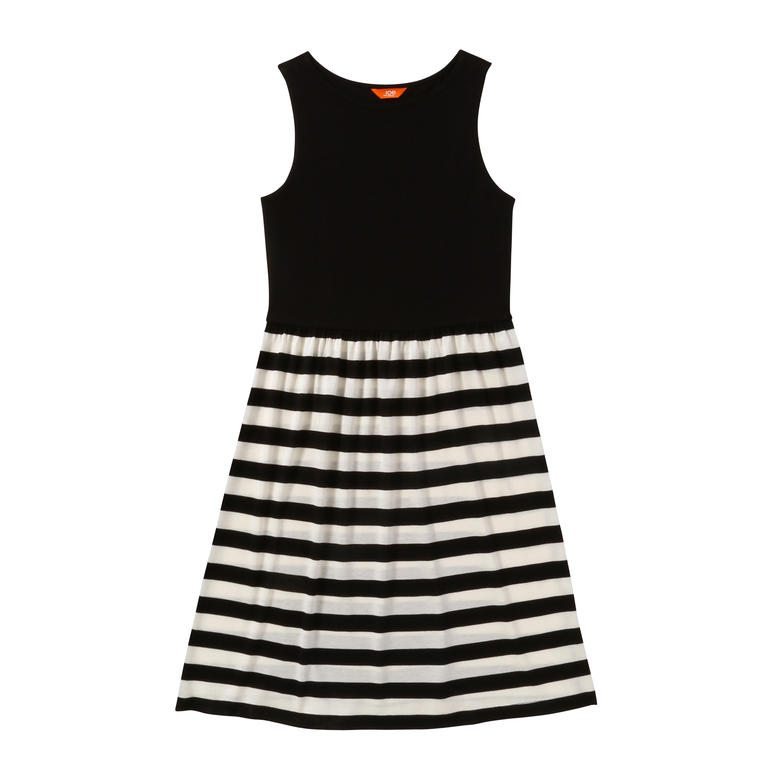 stripe-bottom dress