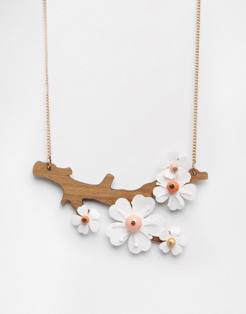 tatty devine cherry blossom necklace