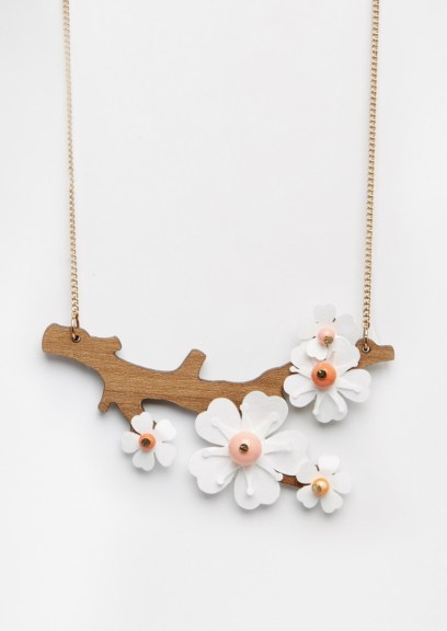 Sakura time!: Cherry blossom necklace by Tatty Devine