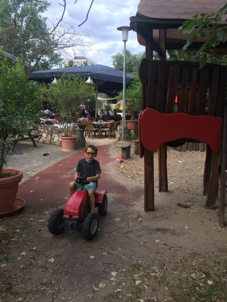 The playground in the garten at Heid's in Heidelberg
