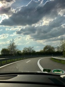 Roadtrip Essentials: On the road with dramatic clouds in Germany
