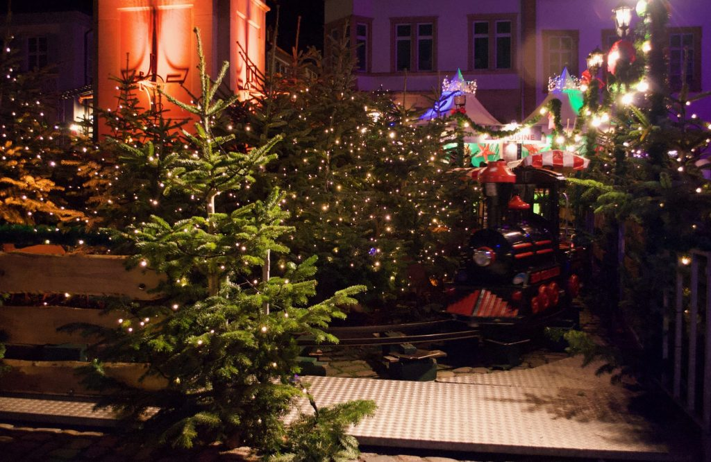 Mini train at the Heidelberger Christmas Market