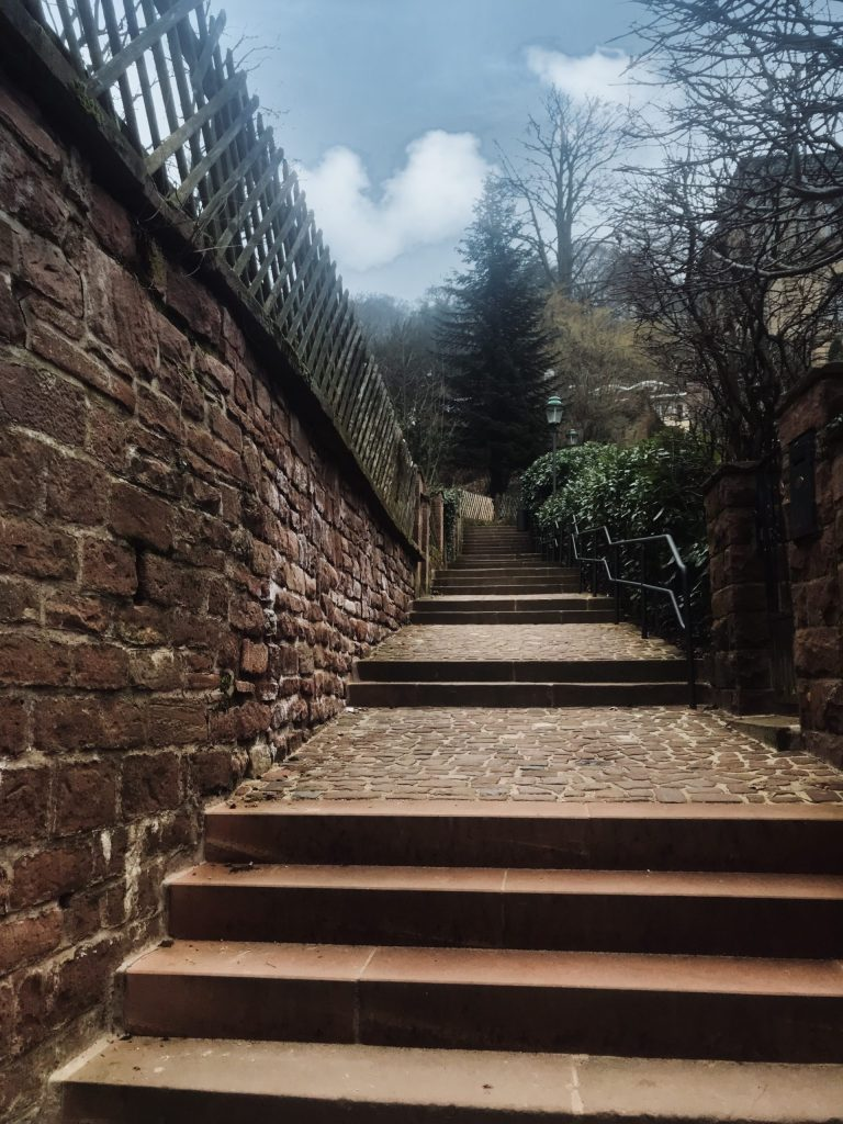 stairs to Heidelberg castle