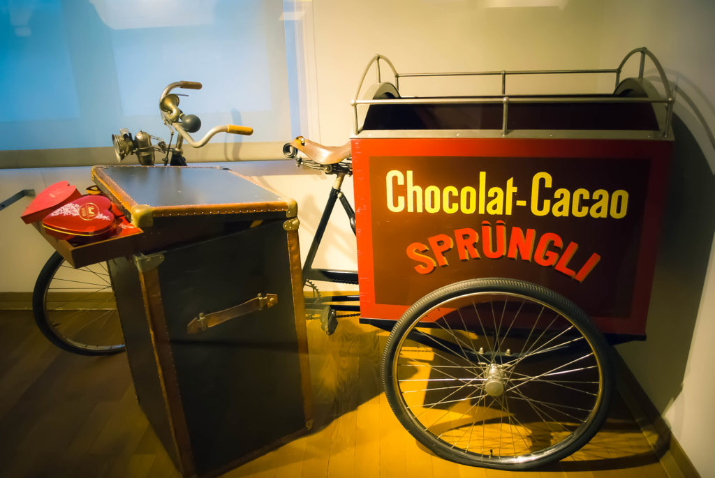 Love this chocolate delivery bike!