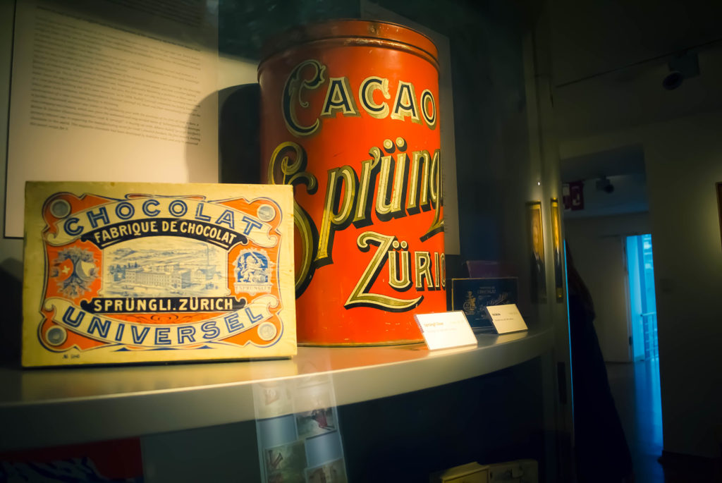 The Chocolate Museum's vintage packaging section is a dream for typeface lovers.