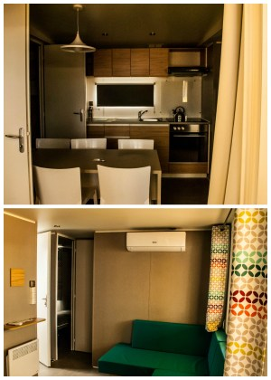 The interior of our Union Lido mobile home was very modern