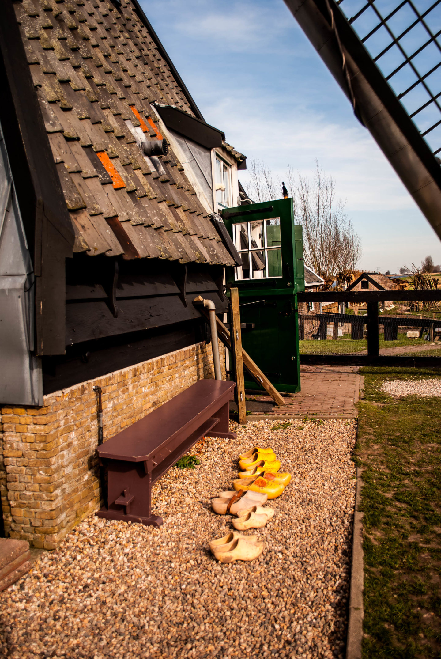 Wooden clogs outside Museum Windmill Blokweer