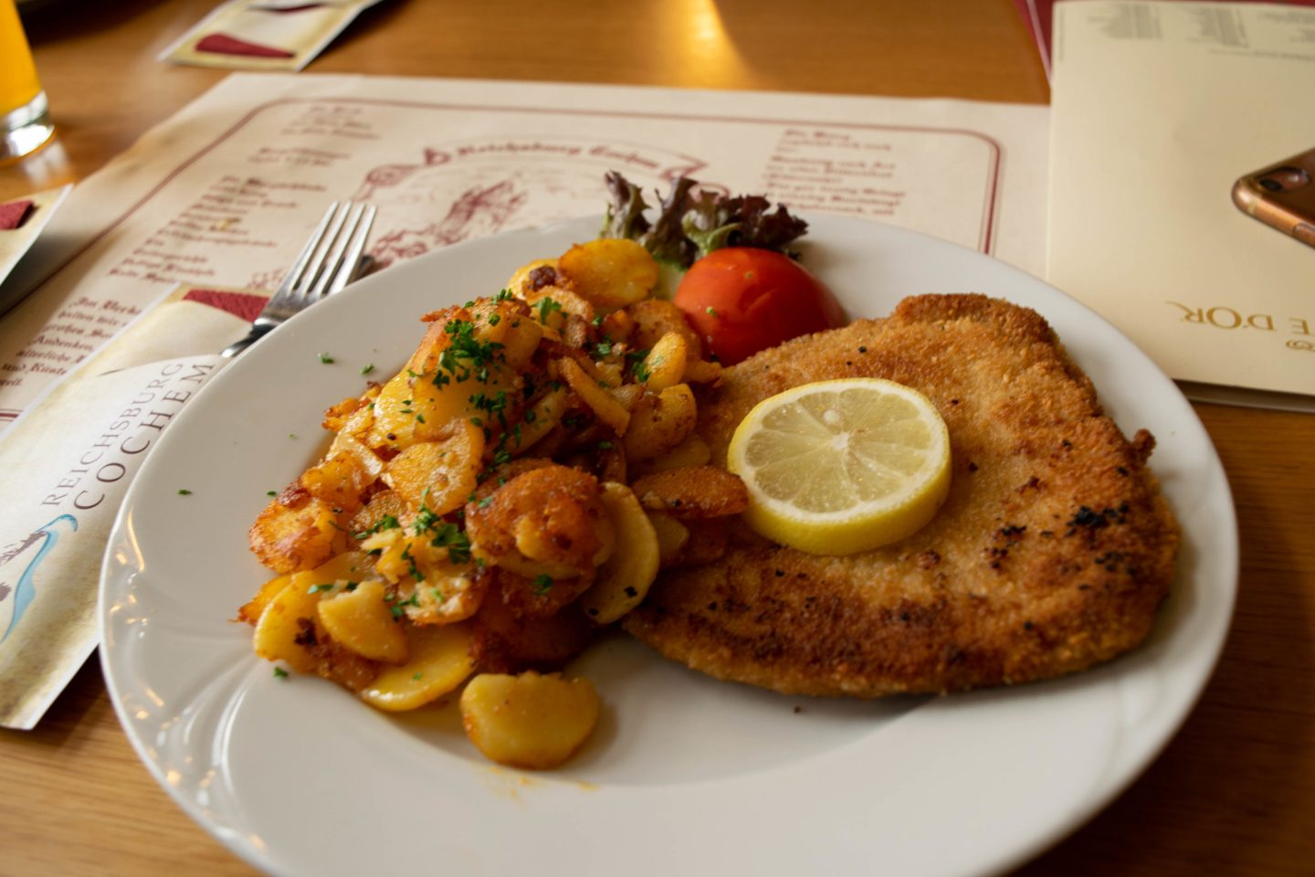Classic Schnitzel in the castle cafe