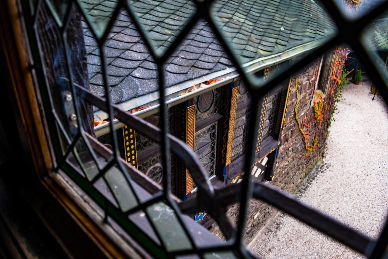 reichsburg inside view through window
