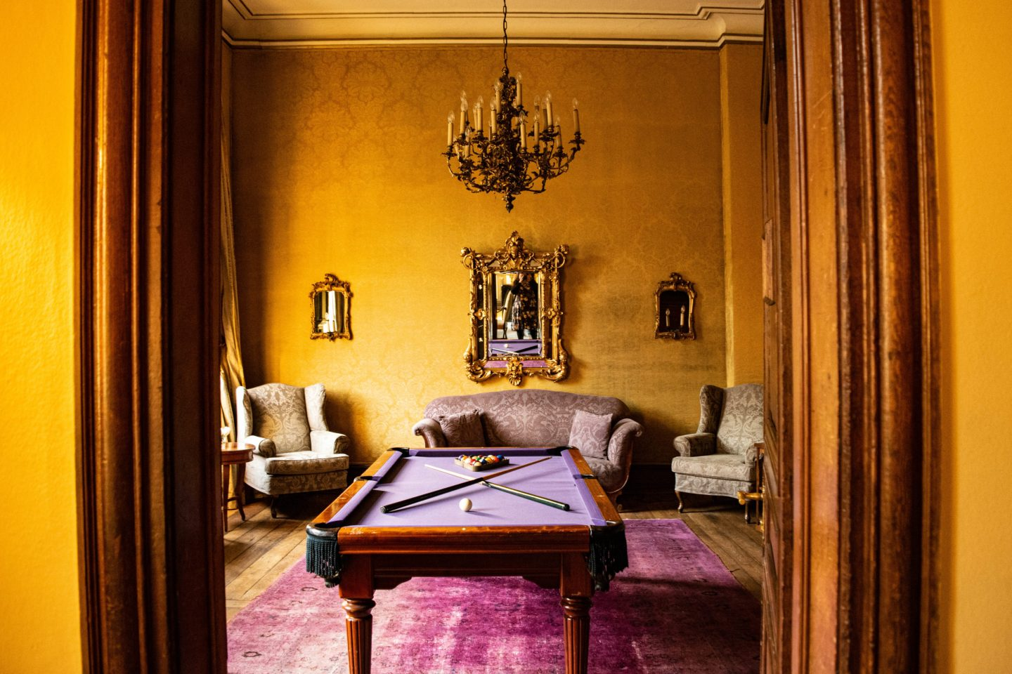 Billiards room at the hotel