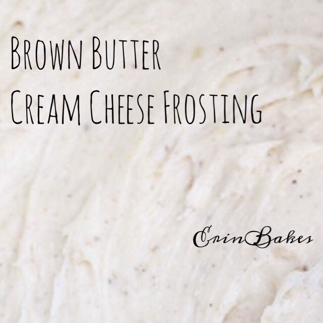 Brown Butter Cream Cheese Frosting | ErinBakes.com