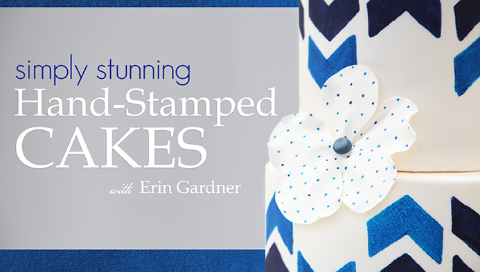 Simply Stunning: Hand-Stamped Cakes | Craftsy | Erin Bakes