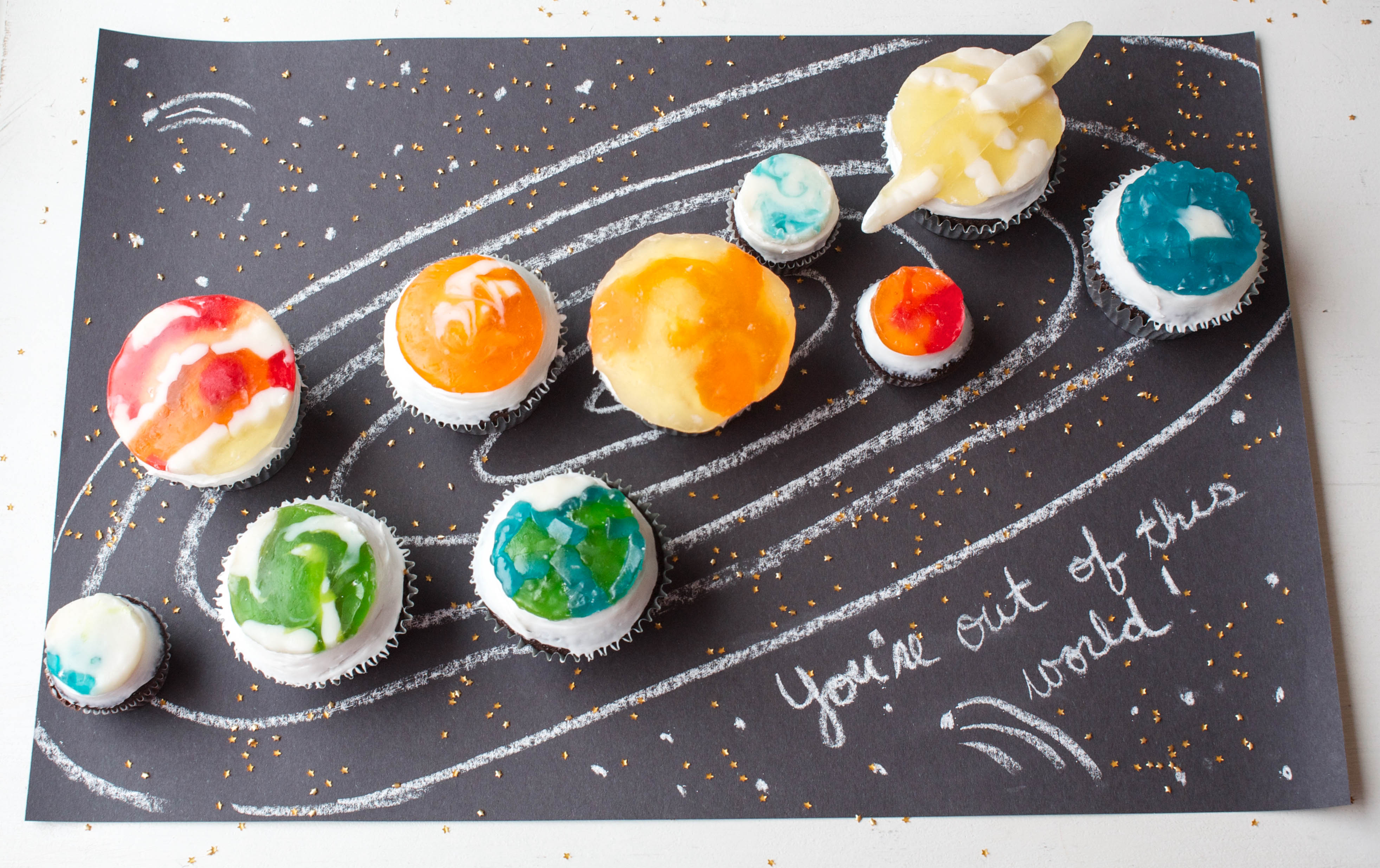 How To Make Gummy Candy Planet Cupcakes