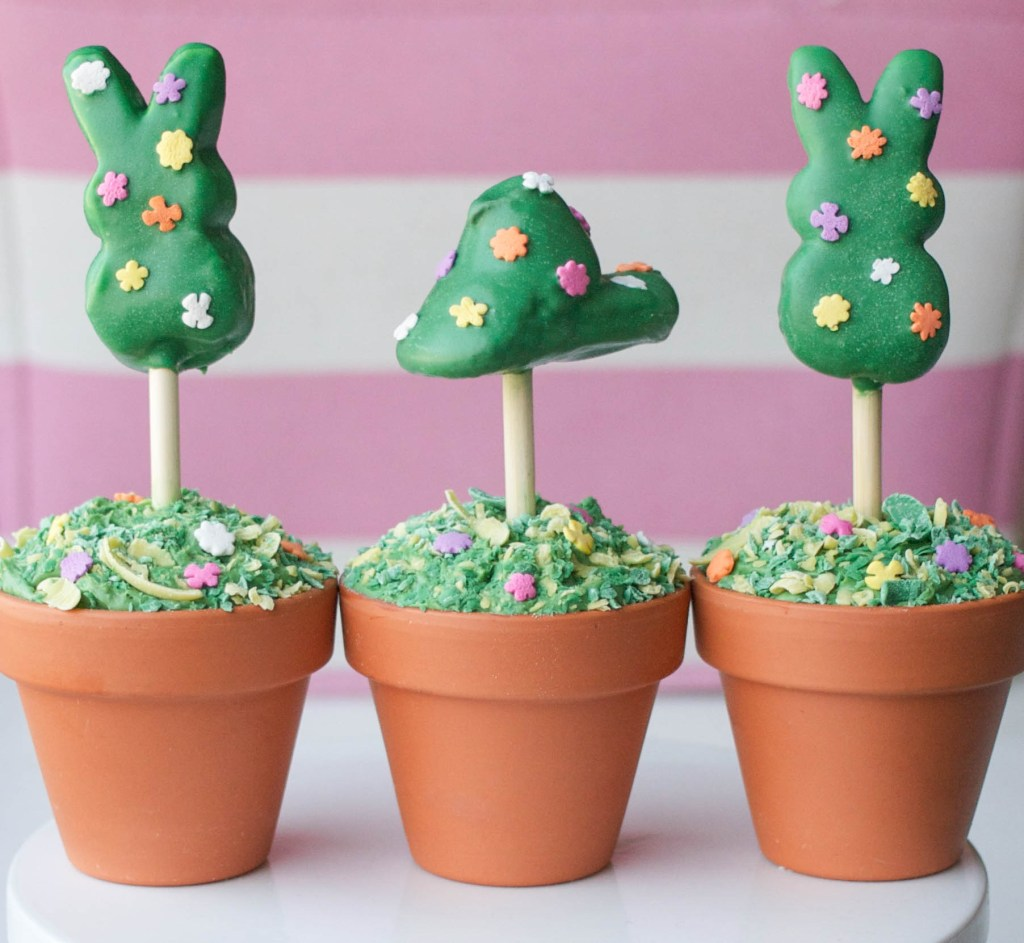 How To Make Peeps Topiary Cupcakes