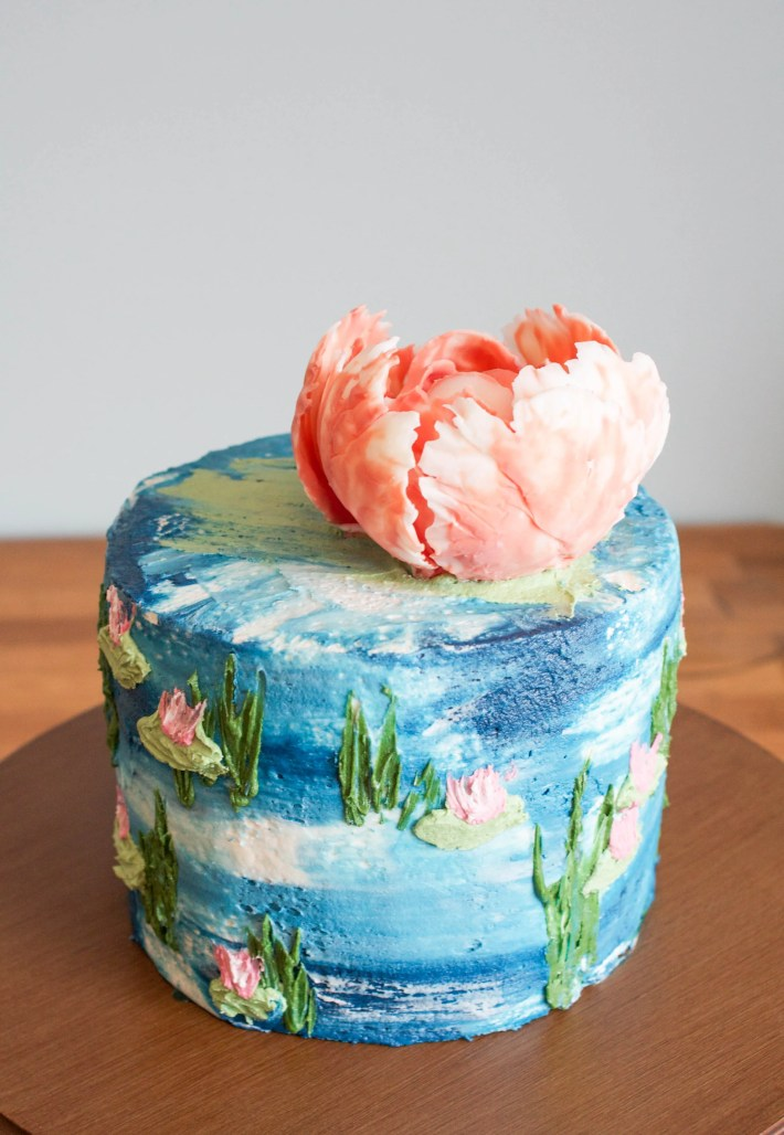 Watercolor Monet Inspired Buttercream Cake | Erin Bakes | Craftsy