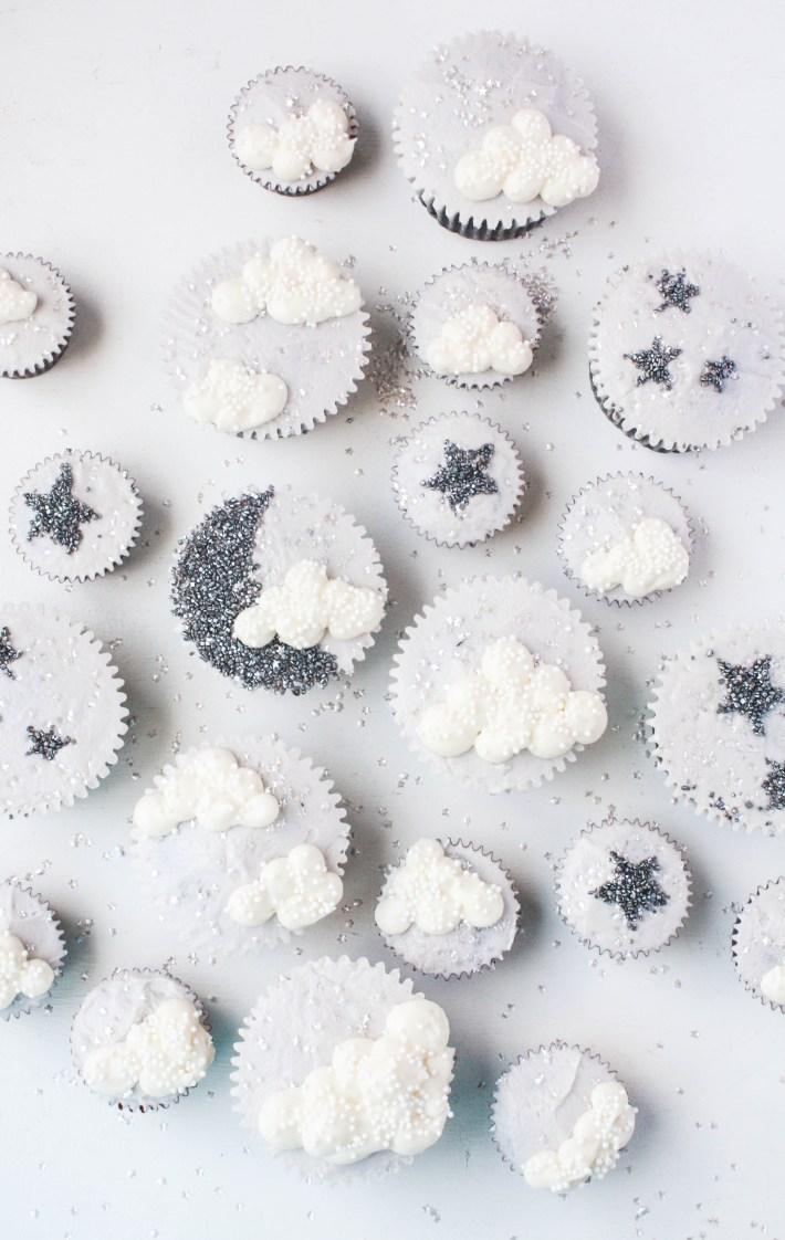 Sparkly Star, Moon, & Cloud Cupcakes | Erin Gardner | Craftsy