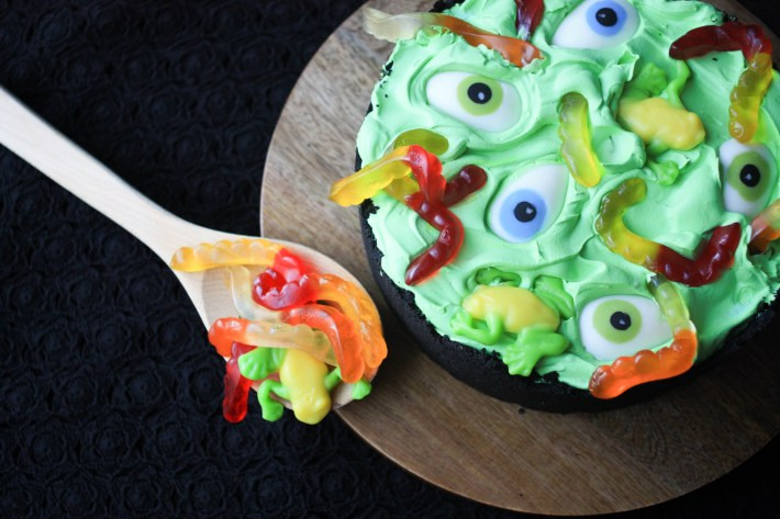 Cauldron Broken Glass Dessert | Erin Gardner | ErinBakes.com