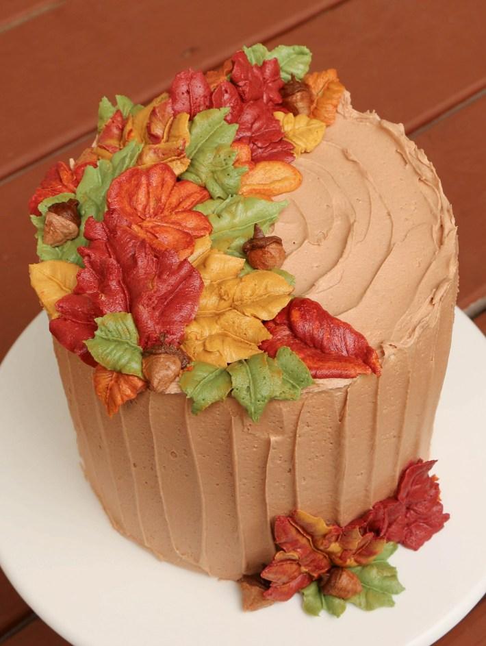 How to Pipe Buttercream Fall Leaves | Erin Gardner