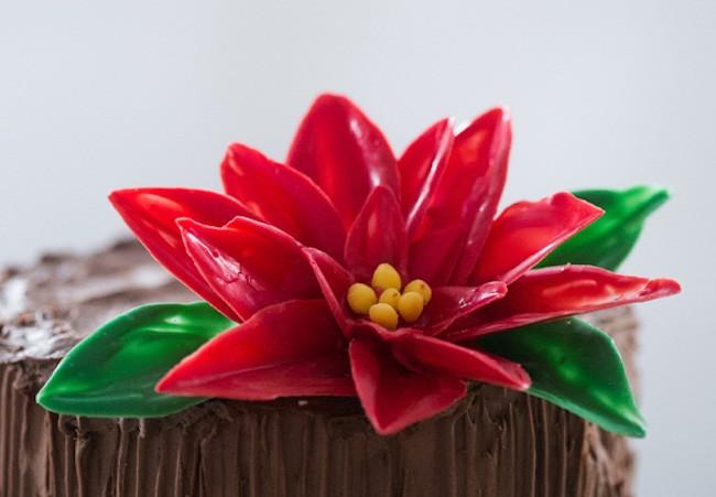 Chocolate Flower Tutorials   Chocolate Poinsettia   Erin Gardner