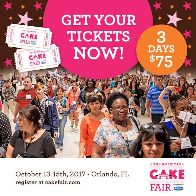 Cake Fair Tickets 2017