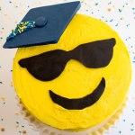 Emoji Graduation Cake by Erin Gardner   Erin Bakes