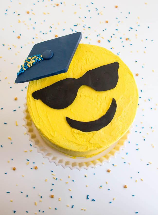 Emoji Graduation Cake by Erin Gardner | Erin Bakes