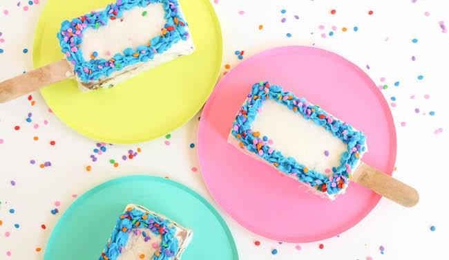 Ice Cream Cake Popsicles | Erin Bakes