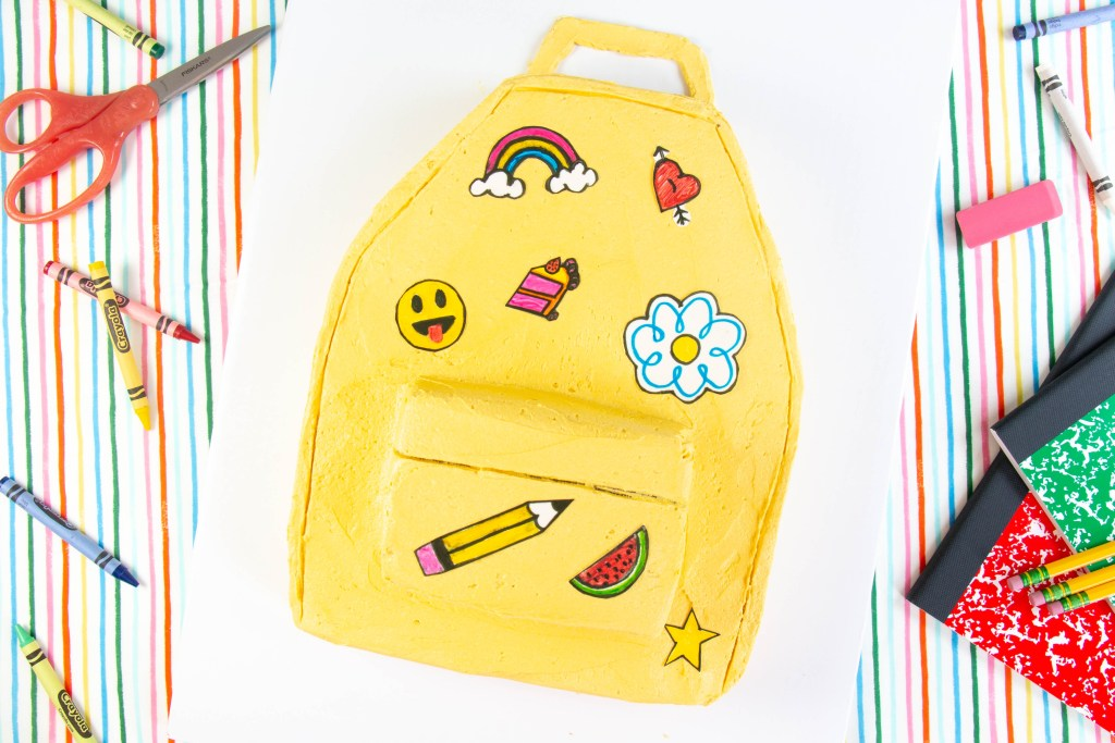 Backpack Sheet Cake by Erin Gardner | ErinBakes