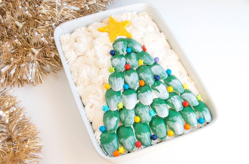 Chocolate Christmas Tree Sheet Cake | Erin Gardner | Erin Bakes