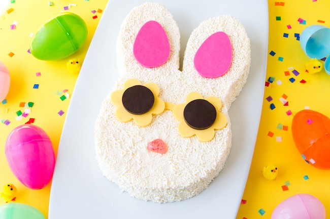 Finished Sprinkle Bunny with Sunnies Cake | Erin Gardner | Erin Bakes