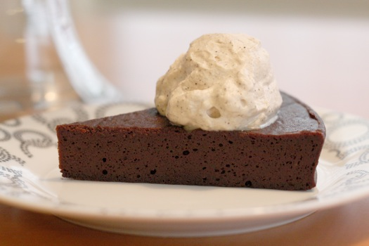Flourless Chocolate Cake with Espresso Whipped Cream