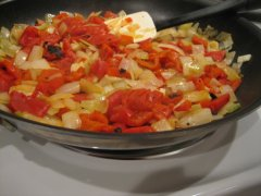 Onions, Peppers & Garlic
