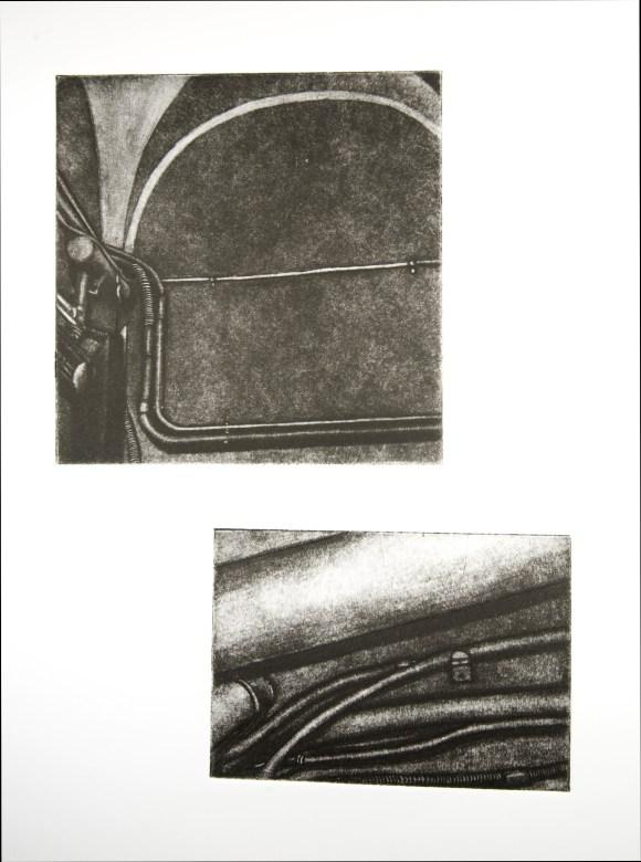 "Boiler Room X, intaglio, 15"" x 22"", 2008."