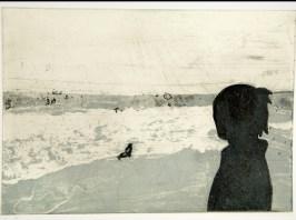 """Silhouette I, intaglio, 8.5"""" x 6"""", 2008."""