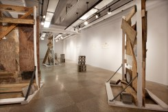 Not-Yet, MFA Thesis Exhibition, installation view (books, sculptures, & drawings), 2012.
