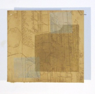 "Untitled fragment, intaglio print, 10"" x 10"", 2010."