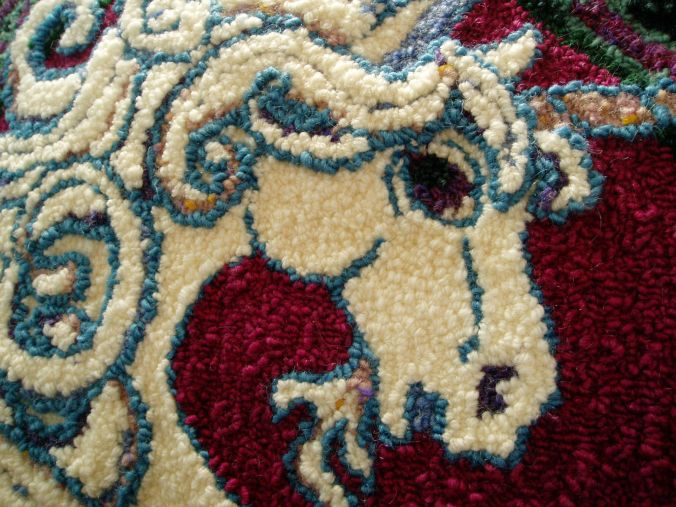 unicorn rug detail