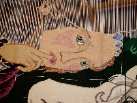 the lady's face in progress