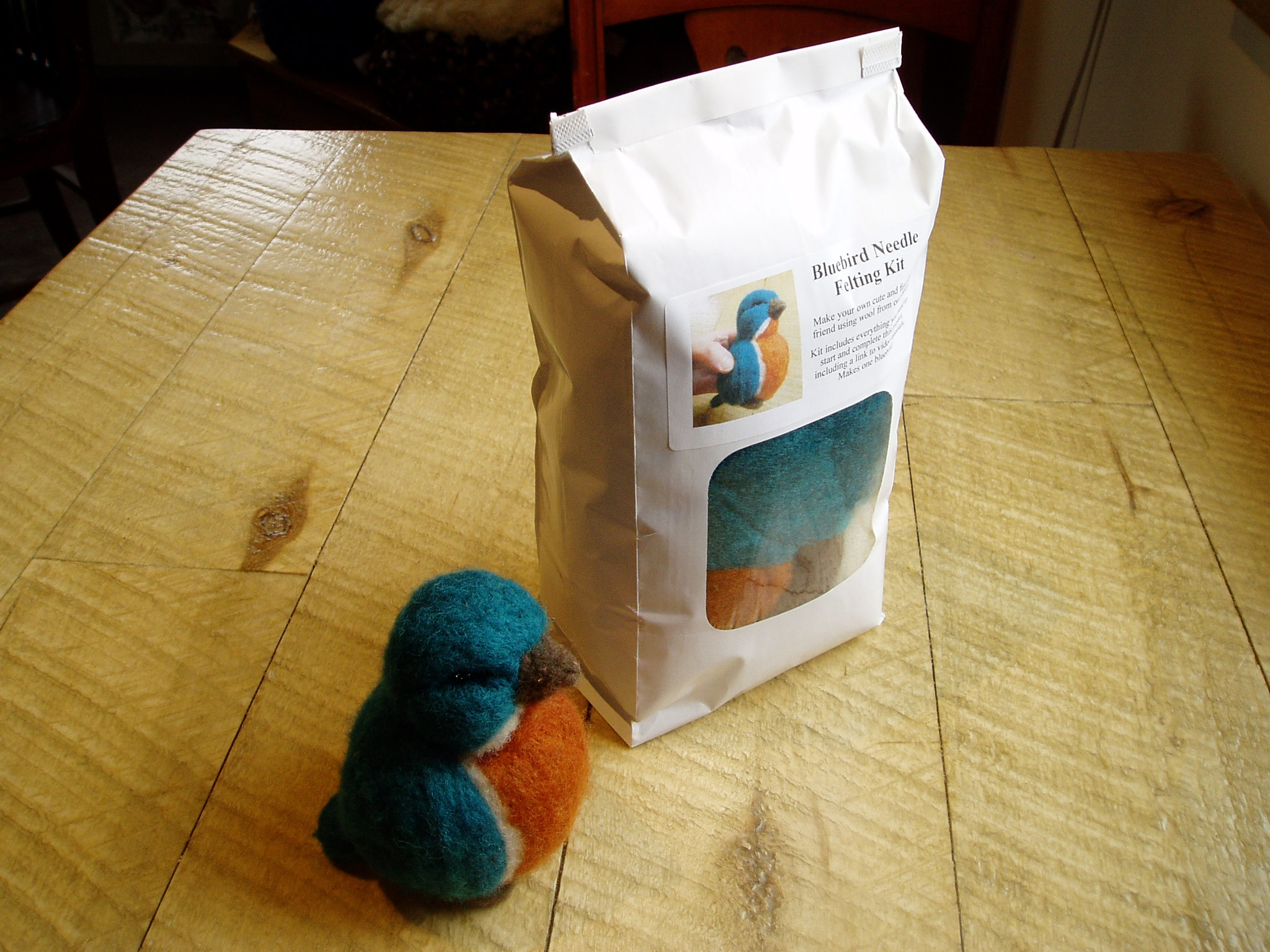 Needle Felted Bird of the Month January Kit