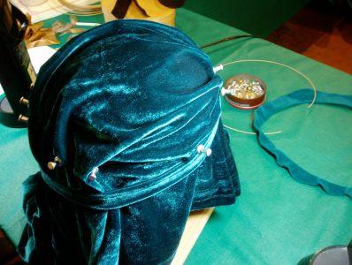 forming the velvet top