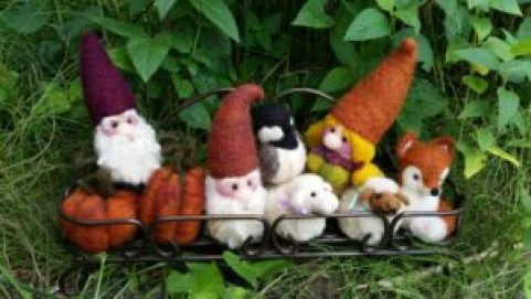 fall felted critters