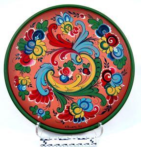 Vesterheim rosemaling plate