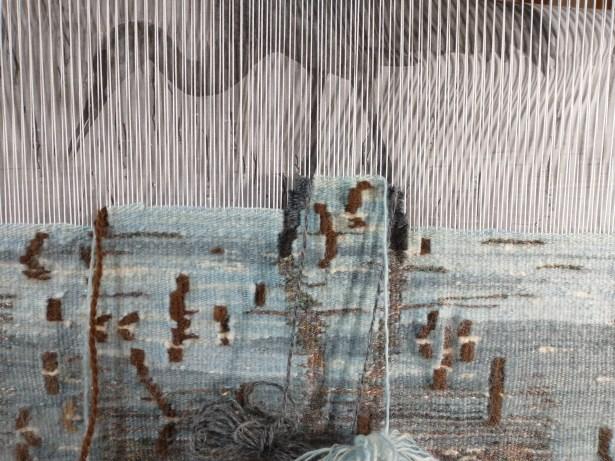 cranes tapestry progress