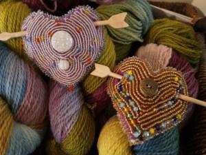 beaded shawl pins
