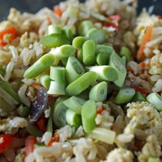 garlic scape fried rice