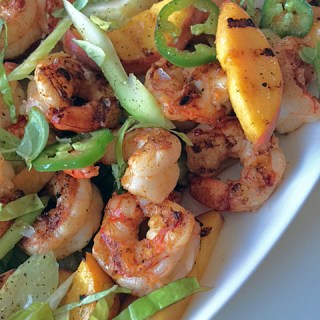 Layers of Flavor: Grilled Shrimp and Peaches